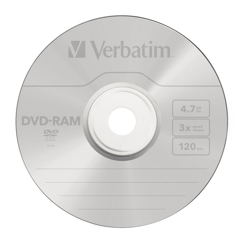 DVD-RAM 4.7GB 3x Verbatim JewelCase Case pack 5 uds