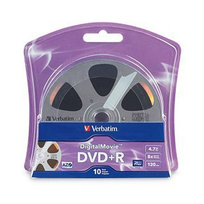 DVD+R 16x Verbatim DigitalMovie Blister 10 uds