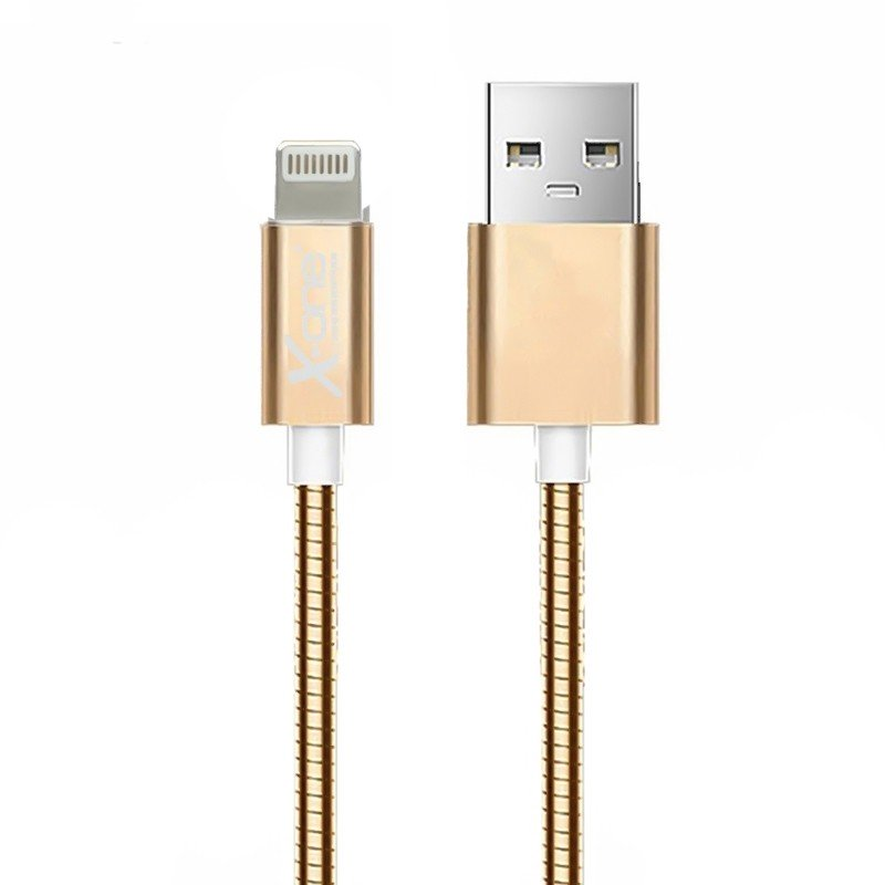 Cable Lightning Metal X-One CML1000 Oro Rosa