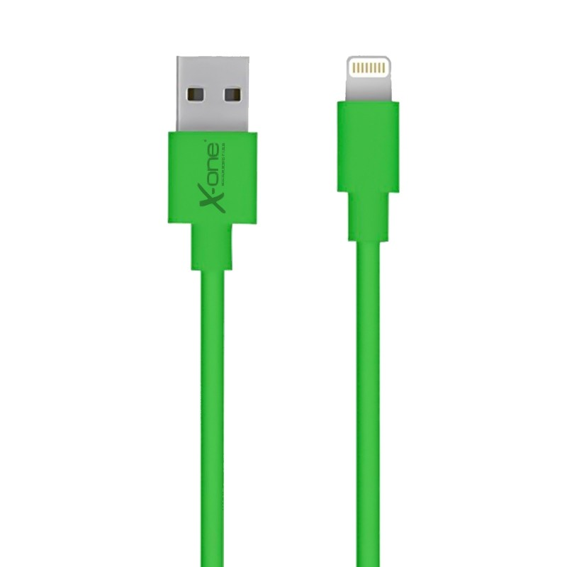 Cable Plano Lightning X-One CPL1000 Verde 1mtr