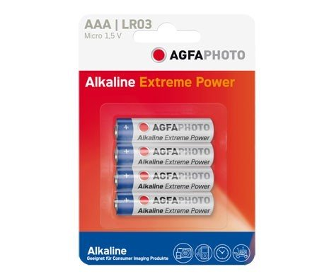 Pilas Alcalinas AAA Agfaphoto AAA pack 4uds (LR03)