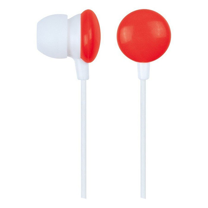 Auriculares Intraaural Gembird MHP-EP-001-R Rojo/Blanco