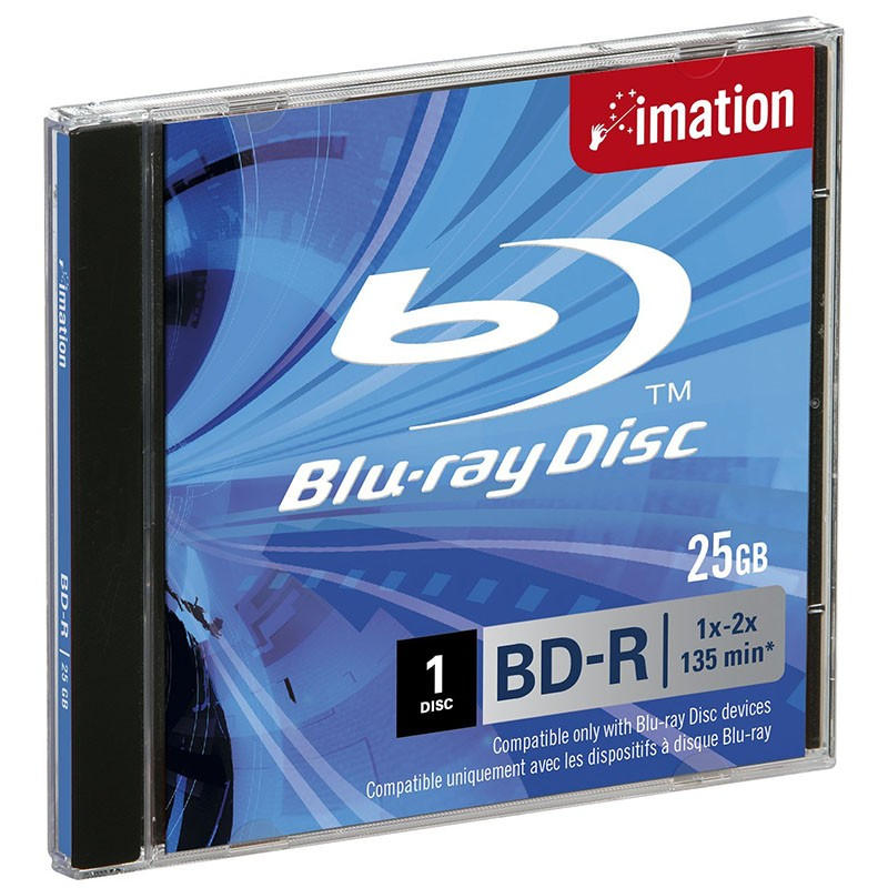 BluRay BD-RE Imation I19982 25GB Jewel Case Pack 5