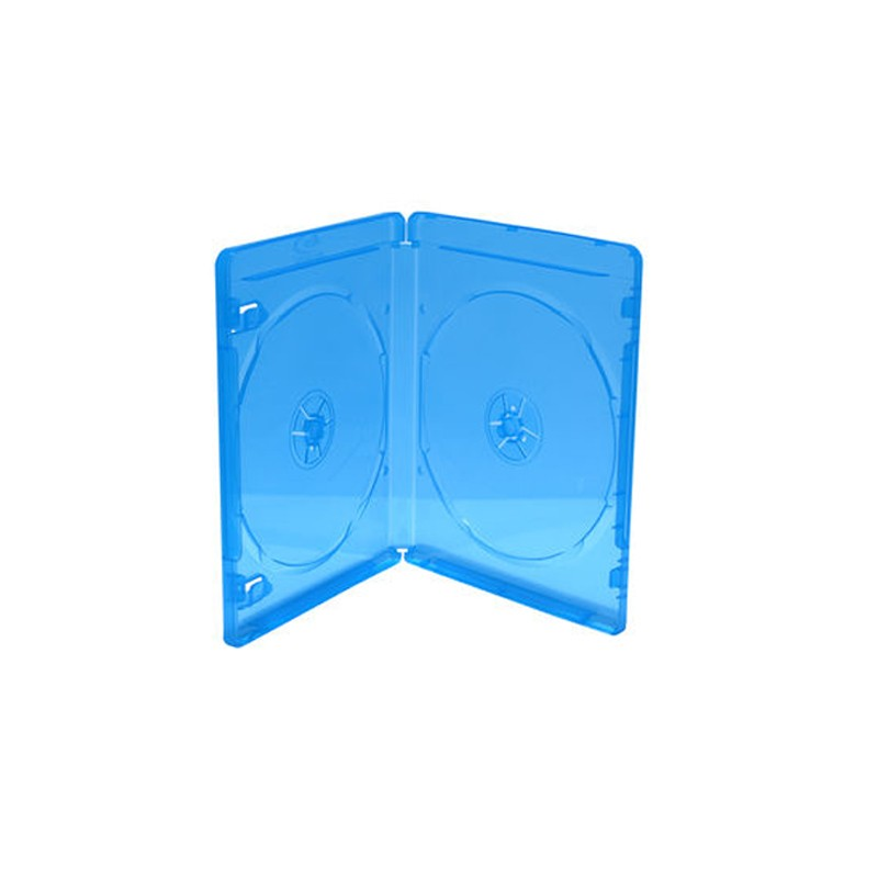 Caja BluRay Doble 11mm (No Sobrepuestos) MediaRange 5 uds