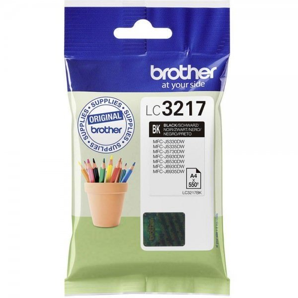 Brother LC3217BK Cartucho de Tinta Negra Original