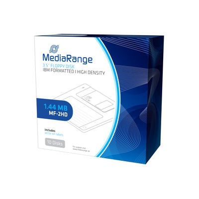 Disquete MF2HD MediaRange MR200-02 1.44MB pack 10 uds
