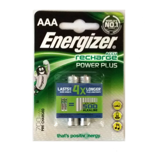 Pilas Recargables AAA NiMH 700mAh Energizer Clasica (Pack 2 uds)