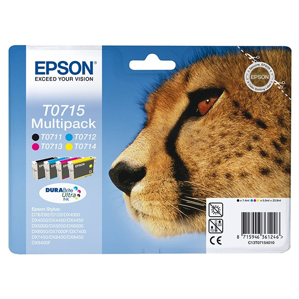 Epson T0715 DURABrite Ultra Ink Multipack 4 Colores Tinta Original