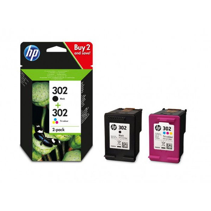 HP 302 Cartucho de Tinta Original Pack de 2 (Color + Negro)