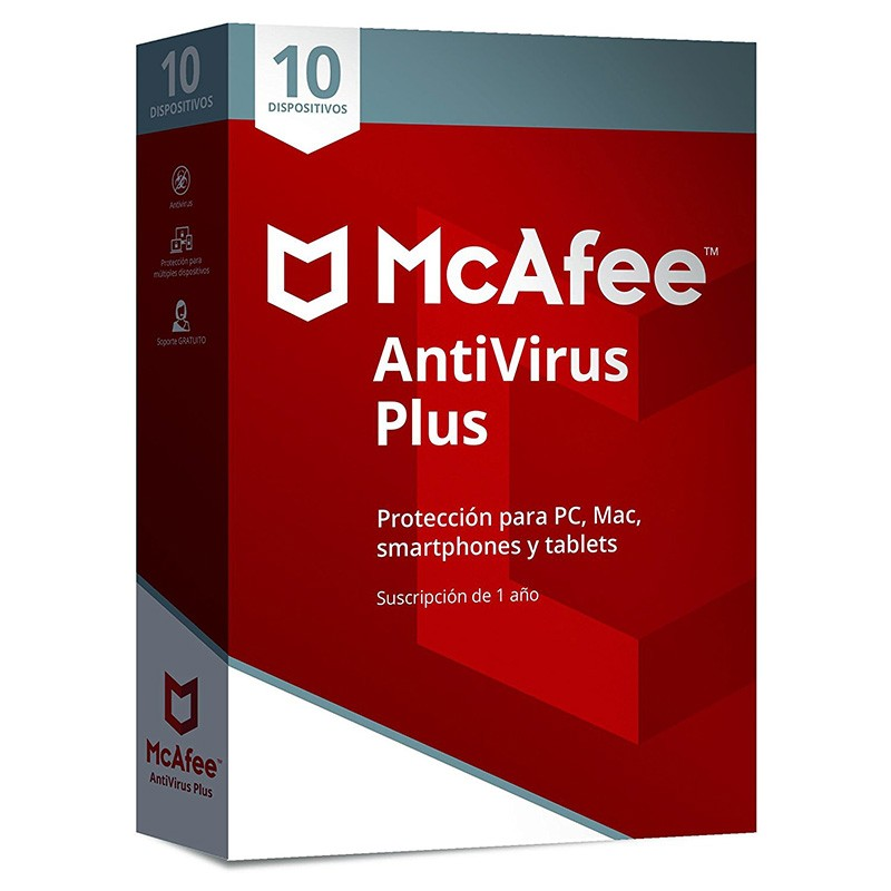 McAfee AntiVirus Plus 2018 10 Dispositivos