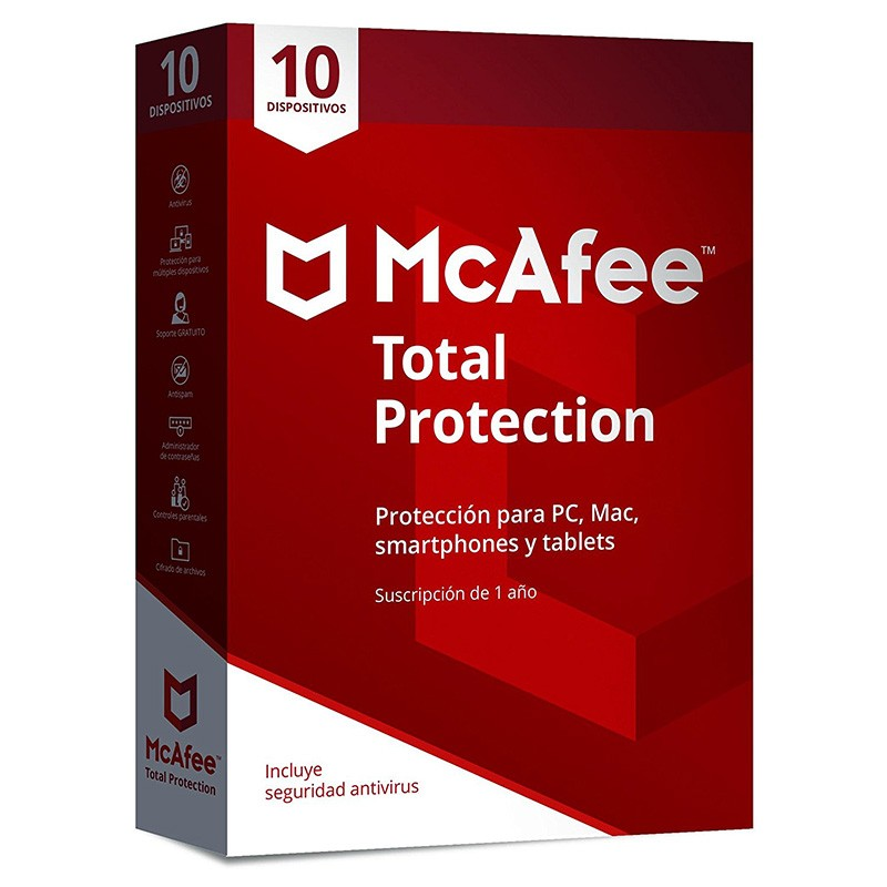 McAfee Total Protection 2018 10 Dispositivos