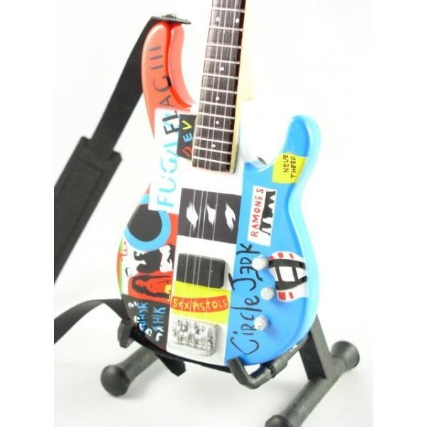 Mini Guitarra De Colección Estilo Red Hot Chili Peppers - Flea - Jazz Bass