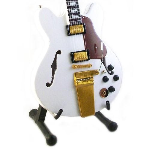 Mini Guitarra De Colección Estilo Neil Young - White Falcon