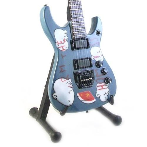 Mini Guitarra De Colección Estilo Rage Against the Machine - Tom Morello - Blue