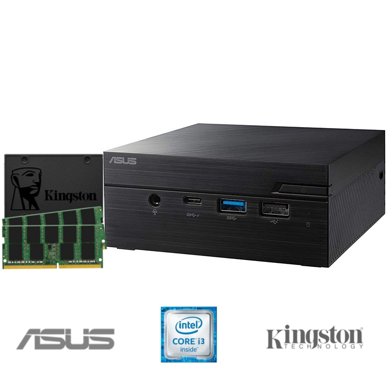 Mini PC BLACK PEARL ASUS i3-8130U 16GB DDR4 960GB SSD
