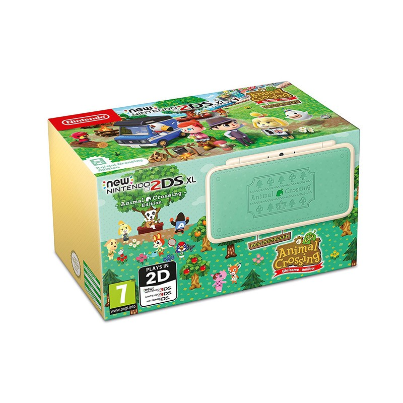 New Nintendo 2DS XL Consola + Animal Crossing Welcome amiibo (Preinstalado)