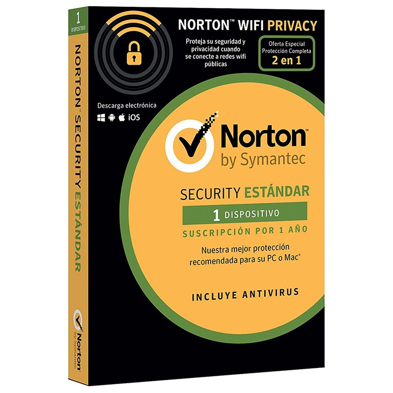 Norton Security Estándar + Norton Wifi Privacy 1 Dispositivo