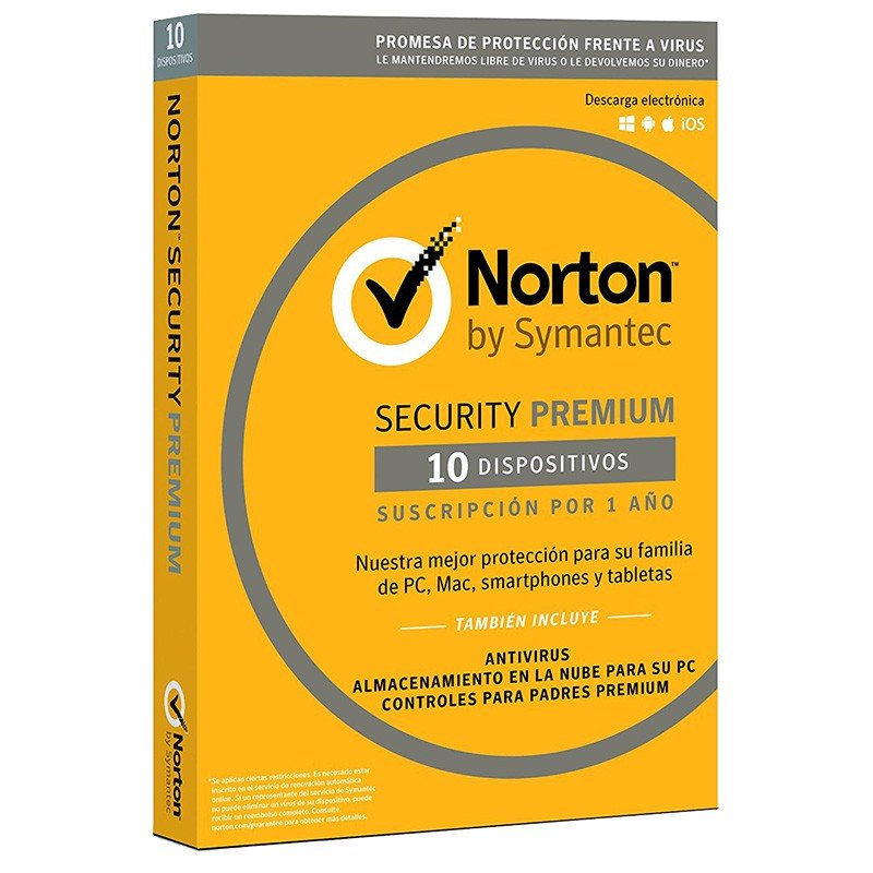 Norton Security Premium 2018 10 Dispositivos