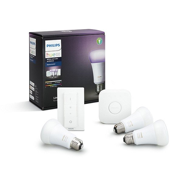 Kit de Inicio E27 3 Bombillas Philips Hue White And Color Ambiance + Mando