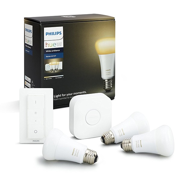 Kit de Inicio E27 3 Bombillas Philips Hue White Ambiance