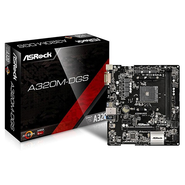 Placa Base ASRock A320M-DGS mATX Socket AM4