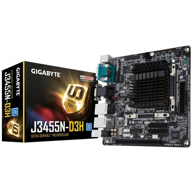 Placa Base Gigabyte J3455N-D3H Mini-ITX CPU Integrada SO-DIMM