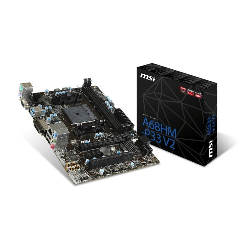 Placa Base MSI A68HM-P33 V2 mATX Socket FM2