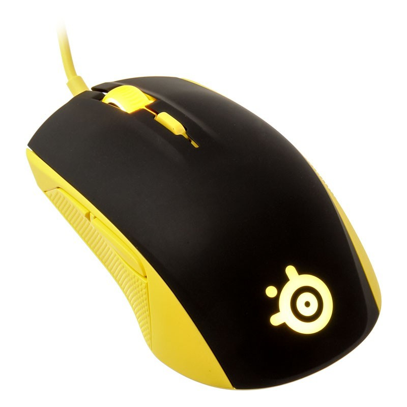 Ratón Gaming SteelSeries Rival 100 Amarillo