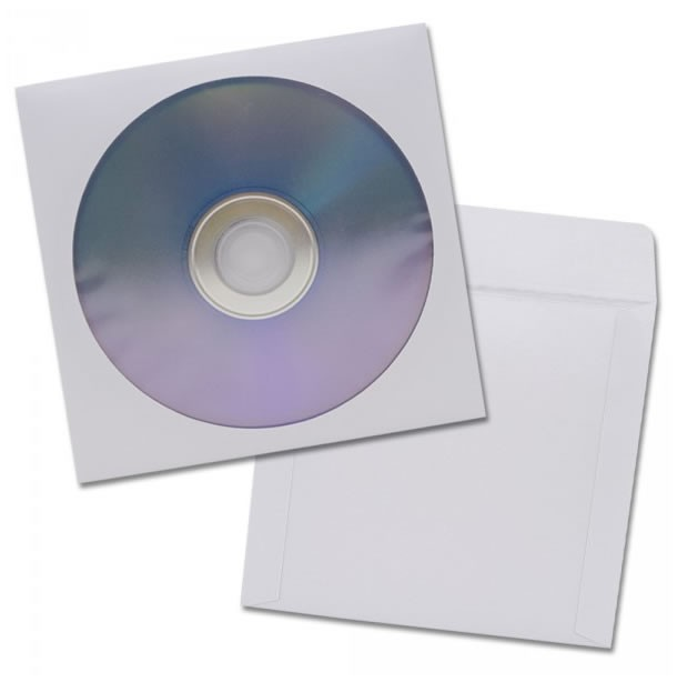Sobres de papel para CD/DVD - Pack de 100