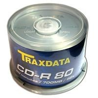 CD-R Traxdata 52X 700MB Tarrina 50 pcs