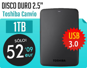 Disco duro 2.5 Toshiba Canvio