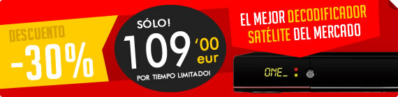 Decodificador sat�lite qviart One oferta
