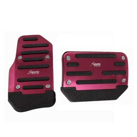 Universal Pedal Cover 2 Piece Set - Red