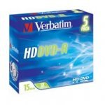 HD DVD-R Verbatim 15Gb SL Jewel Case 1x Pack 5 uds