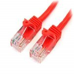 1m Cat 5e Red Snagless Ethernet Patch Cable