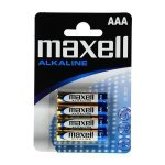 Pila Alcalina AAA Maxell pack 4 uds (LR03)