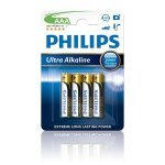 Pila Alcalina AAA Philips Ultra Alkaline pack 4 uds (LR03)