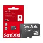 MicroSDHC Card 8GB Class 4 SanDisk Mobile (Without Adapter)