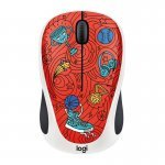 Ratón Inalámbrico Logitech M238 Doodle Collection Champion Coral 1000DPI