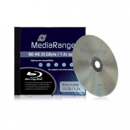 Blu-ray BD-RE SL 25GB 2x MediaRange (Rewritable) Jewel Case 1 pcs