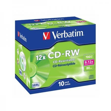 CD-RW 12x 700MB Verbatim ReWritable Jewel Case pack 10 pcs