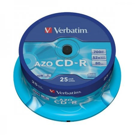 CD-R 52x 700MB Verbatim AZO Crystal Cake 25 pcs