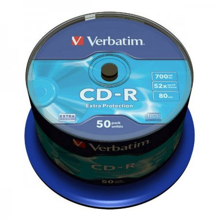 CD-R 52x 700MB Verbatim Extra Protection Cake 50 pcs