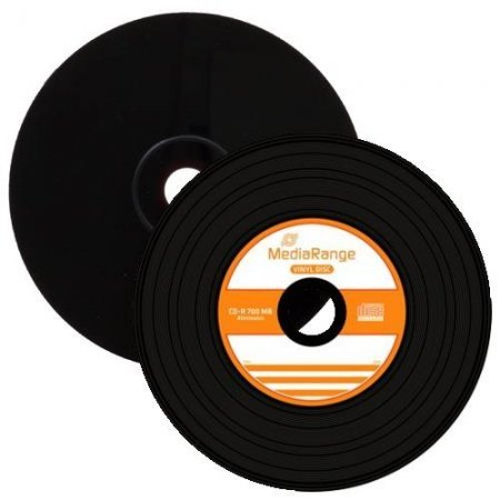 CD-R 52x 700MB MediaRange Black Vinyl Cake 50 pcs