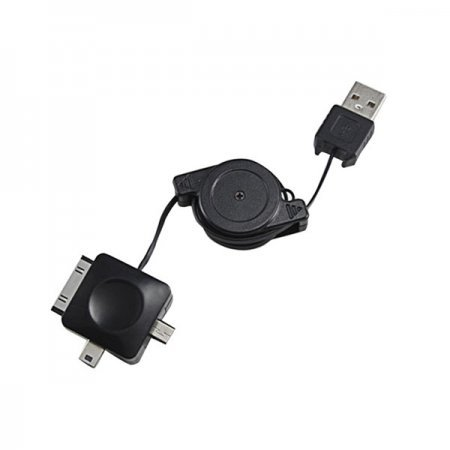 Cable De Carga Retractil Phoenix para Apple/MicroUSB/MiniUSB
