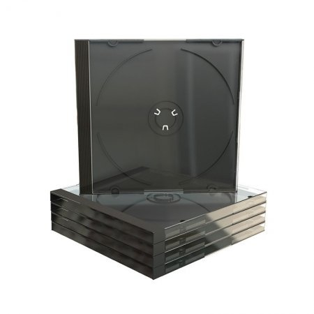 Pack 50 Boxes CD Jewel Case Black Tray (Packing Machine)