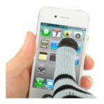 Winter Dot Gloves for Touch Screens - Grey-Black