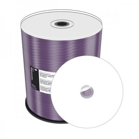 DVD+R Doble Capa 8X MediaRange Prof.Line FF Thermal White Tarrina 100 uds