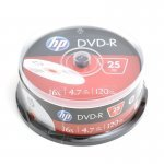 DVD-R 16x HP Tarrina 25 uds