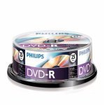 DVD-R 16X Philips Tarrina 25 uds